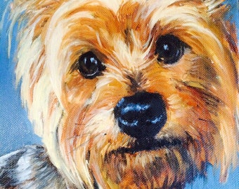 """11"""" x 14"""" Custom Oil Pet Painting on Canvas Panel of One Dog, Cat, Horse, bird, Other by Meredith Reynells"""