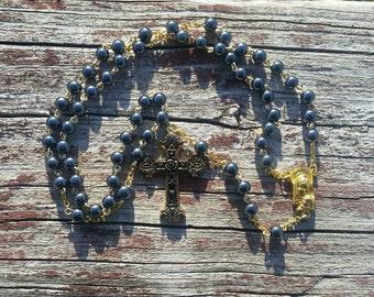 Catholic Rosary Hematite Beads