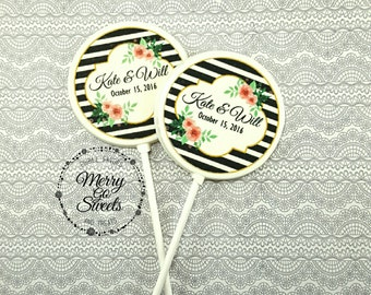 Edible Print Chocolate Lollipops // Personalized Wedding Favors // Edible Wedding Favors // Wedding Lollipops // Personalized Wedding Favors