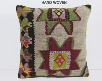 20x20 Kilim Pillow 20x20 Outdoor Pillow By Decolickilimpillows