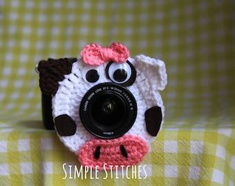Cow Camera Lens Buddy - Crocheted Lens Helper