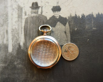 Antique Swiss Made open face Pocket Watch empty Body Case in solid silver / industrial steampunk supply / pocket watch case for art - PW62