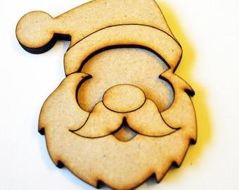 3D santa head craft blanks Father Christmas laser cut