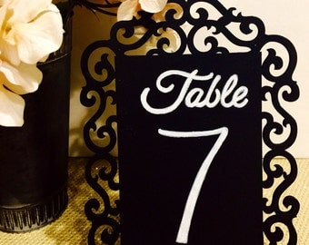 Shabby Chic Hand Painted Table Numbers