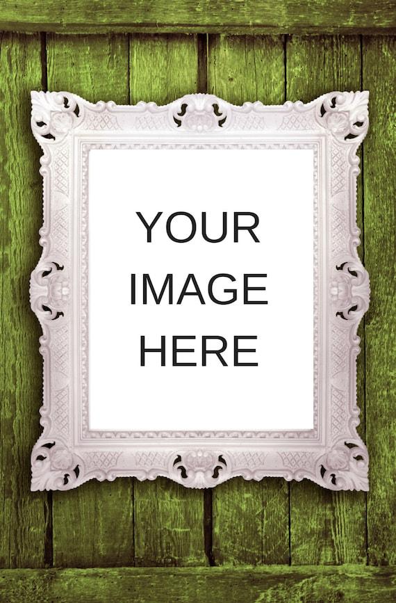 Stock Photography I White Frame I Instant Download I Detailed White Frame I Styled Stock Photography
