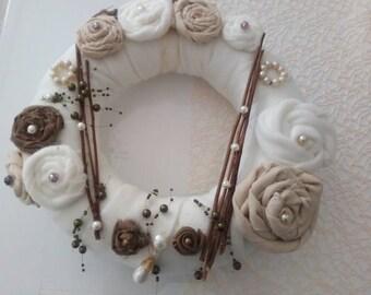Dekokranz Shabby chic Tischdeko Vintage Rosen