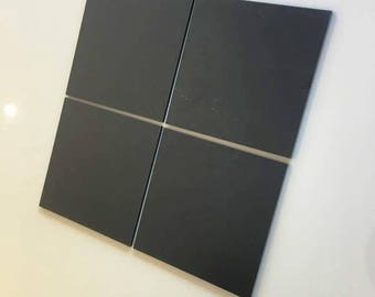 "Graphite Dark Grey Mat Acrylic Square Crafting Mosaic & Wall Tiles, Sizes: 1cm to 20cm - 1"" to 7.9"""