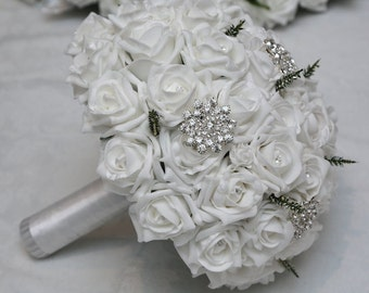 Wedding artificial foam bride bouquet/posy