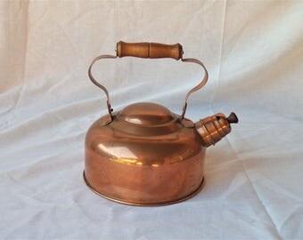 Vintage Copper Tea Coffee Kettle Pot Food Blog Stylist Photography Props