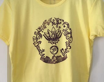Tshirt with yoga inspired print