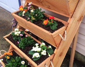 large gardening planters raised bed gardening by RopedOnCedar