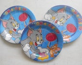 10 Party Large Plates 23cm ''Tom and Jerry Sweets''-birthday/table decor/themed party/cat/mouse/boy/made in Italy.