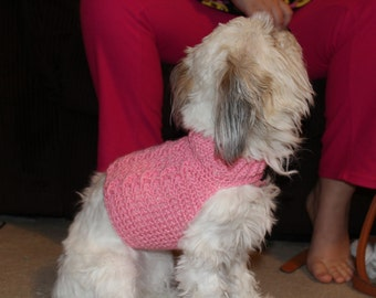 Custom Dog Sweater-Cabled Puppy Sweater