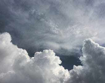 Cloudy Skies, Wall Art Decor, Storm Photography, Cloudscape, Sky Photography, Dark, Nature Photograph