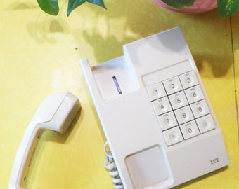 Push Button Phone, Vintage Phone, 90s Phone,Push Button Telephone,Large Buttons,Desk Phone,Vintage Office Decor,90s Decor,House Warming Gift