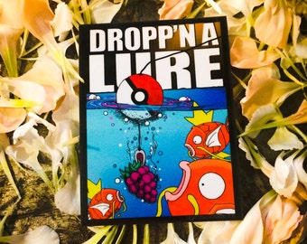 Dropp'n a Lure - by Decaffeinated Designs (3x4) high gloss vinyl sticker