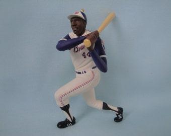 Hank Aaron Ornament/Hallmark Hank Aaron At The Ballpark Ornament/2nd In series At The Ballpark/Atlanta Braves
