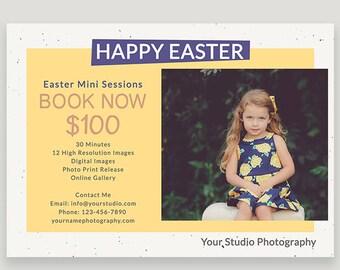 Easter Mini Session, Photographer Template, Spring Photography, Newsletter, Marketing Template, Marketing Board, Digital File, PSD c144