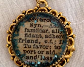 Custom Pendant Friend Pendant Resin Jewelry Christmas Gift