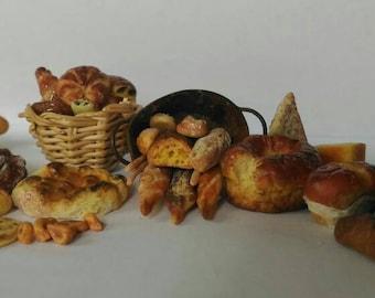 Viennoiserie, boulangerie miniature set