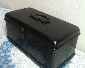 A Shiny Black Metal Box