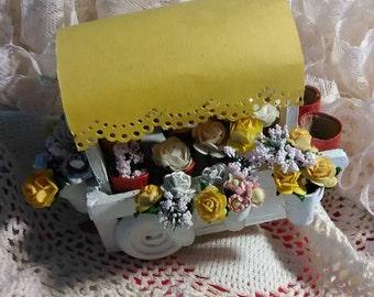 Miniature Flower Cart downloadable Pattern