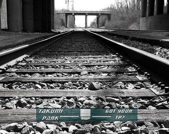 Railroad art photography, train art print, 11x14, black and white decor, train tracks, wallart, railway, train picture, railroad decor