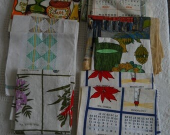 Vintage Kitchen Dish Towel Lot ~ 11 Dishcloths~ All New & Unused~ Old Stock~ Variety of Styles ~ Linen Australia Canada Bermuda Rooster