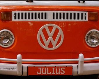 Orange Julius VW Bus Photographic Print