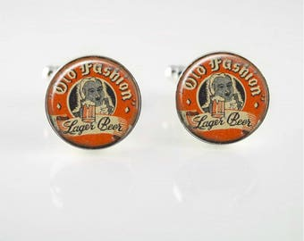 Vintage Old Fashion Lager Cuff Links or Tie Clip