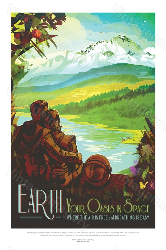 Earth Nasa Poster Home ExoPlanet 2016 NASA/JPL Space Travel Poster Space Art Great Gift idea Kids Room Office man cave Wall Art Home Decor
