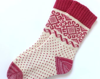 Wool Socks with Scandinavian patterns Warm and soft wool socks Knitted wool socks Gift idea.