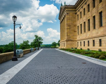 The Philadelphia Museum of Art, in Philadelphia, Pennsylvania. | Photo Print, Stretched Canvas, or Metal Print.