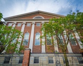 Lehman Hall, at Harvard University, in Cambridge, Massachusetts. | Photo Print, Stretched Canvas, or Metal Print.