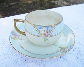 Vintage Meito China Tea Cup Hand Painted Japan