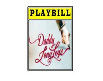 Theater / Show Charm - Playbill Play Bill - Daddy Long Legs