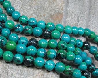 "8 mm Chrysocolla Beads, 16"" strand - Item B0862"
