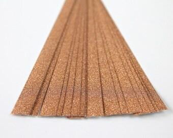 folding paper for lucky stars gold glitter - 20 paper strips for origami stars