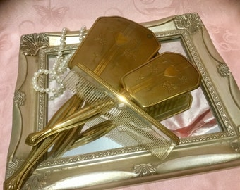 Gorgeous, Antique, Three Piece Vanity Set