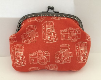 Large Vintage Cameras Coin Purse