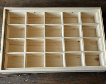 Rack wooden beads, jewelry or other compartments