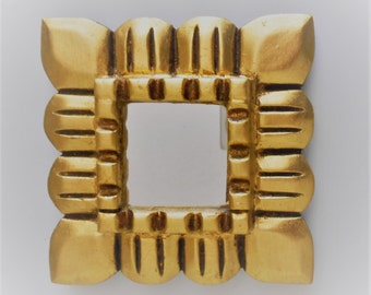 4.75 x 4.75, Mirror Gold, Wall Mirror, Gold Leaf Mirror, Gold Frame Mirror, Ornate Mirror, Square Mirror,Wall Hanging, Wall Decor, Wall