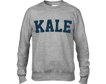 Vegetarian Kale Shirt - KALE Sweatshirt - Men's Women's Unisex ANVIL Sweatshirt - Item 1760