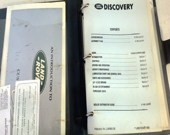 Land-Rover Discovery Owner Glovebox Manual in Folder, 1992, LJAHBAU 93 (4427)