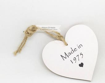 Personalise with the year you were born,  'Made In Series', Personalised Wooden Hearts,  New Baby,  Birthday Gift, Wedding Gift, Baby Shower