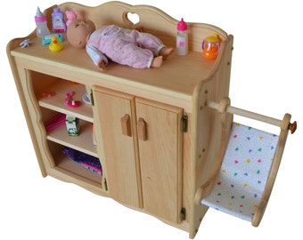 Natural Dolly's Changing Table  Wooden Play Kitchen