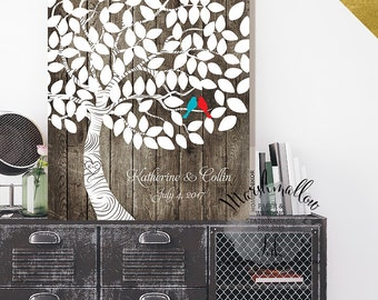 Wedding Guest Book Alternative Rustic Wedding Tree, Wedding Gift Wood Guest Book, Wedding Signs, Wedding Keepsake Gift for Bride Guestbook