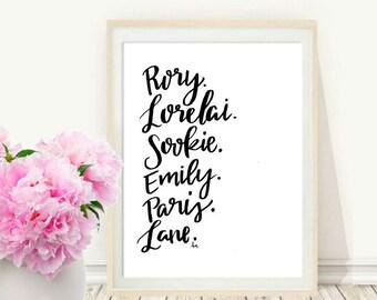 The Girls of Gilmore Girls; Rory Lorelai Sookie Emily Paris Lane