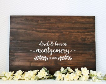 Wedding Guest Book, Wood Guest Book, Wood Guest Book Sign, Wooden Guest Book, Wooden Guest Book Sign, Bridal Shower Gift, Guest Book