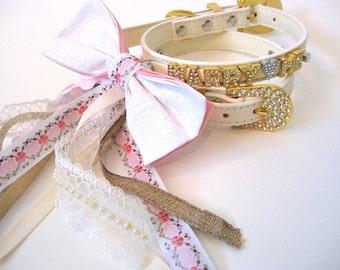 Marry Me Dog collar | Proposal dog collar | Bow Dog Collar | Wedding Proposal | XS S M L | Bling Dog Collar